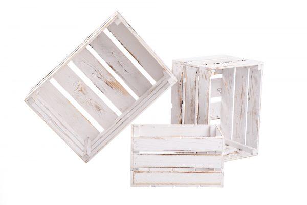 Lots caisses «Klaudia» blanc vintage 1