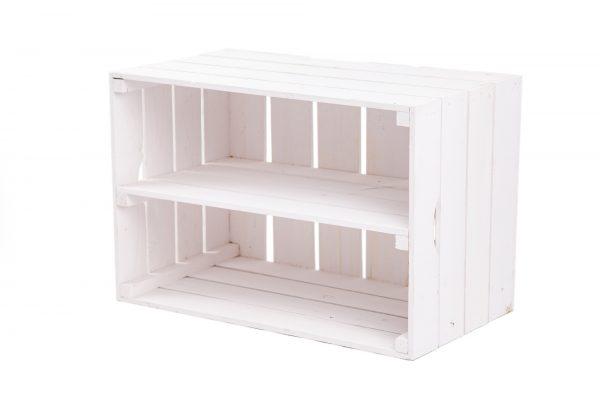 """Caisse à étagère""""Maxi"""" blanc + plateau central 1"""
