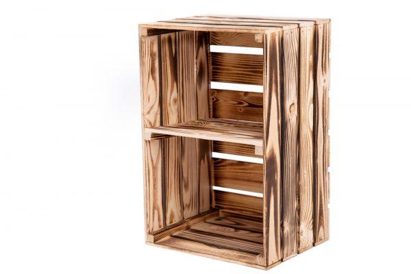 """Caisse à étagère""""Maxi"""" flambée + planche centrale format vertical 1"""
