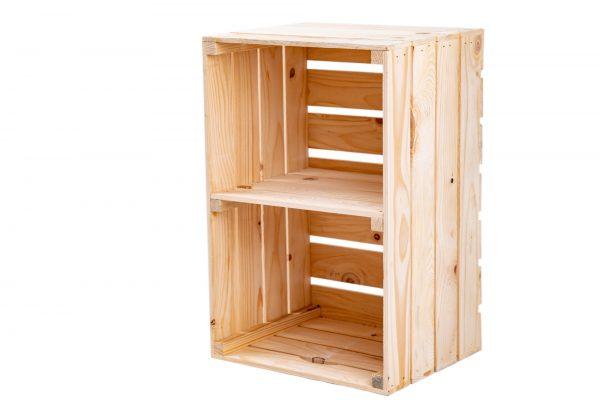 """Caisse à étagère""""Maxi"""" naturel + planche centrale format vertical 1"""