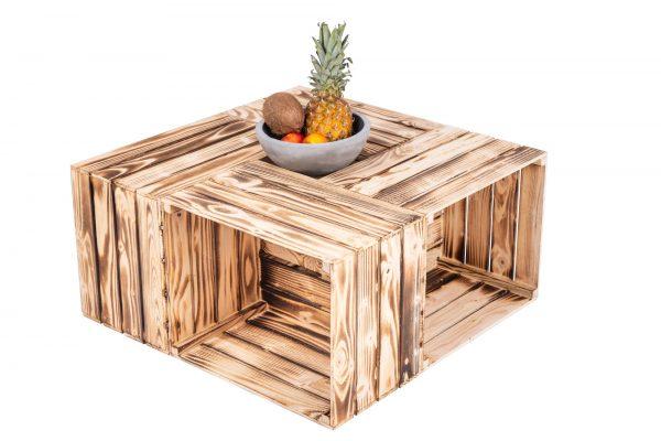Table en boîtes de fruits «Martina» flambée 1