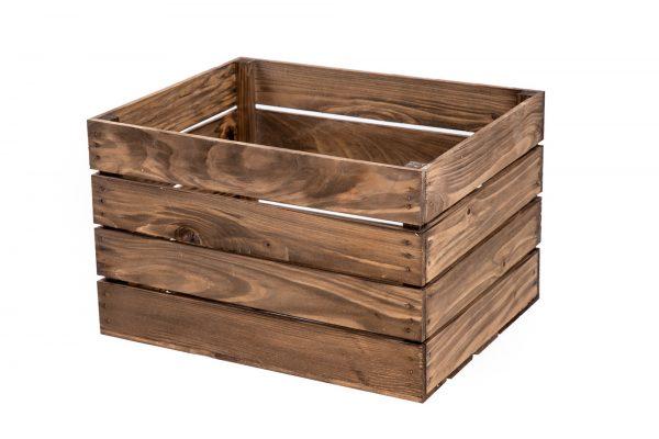 """Boîte à fruits """"Klaus"""" vernis foncé 1"""
