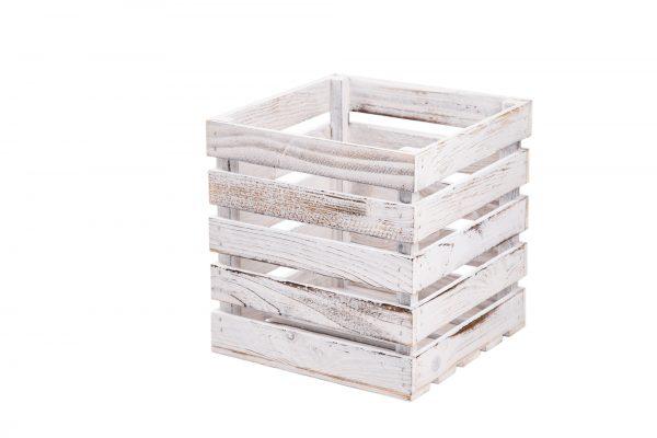 "Boîte de rangement ""Tim"" blanc vintage 1"