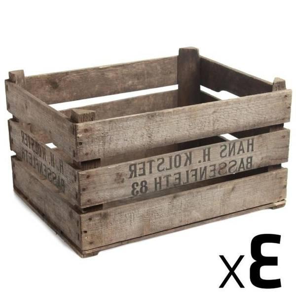 Acheter Caisse stockage pomme / caisse a pomme en bois pas cher vintage 1
