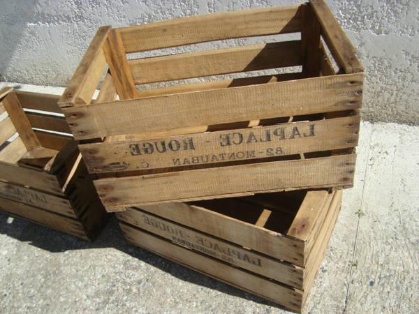 Où Trouver : Caisse en bois vieilli : caisse a pomme ou trouver promotion 1