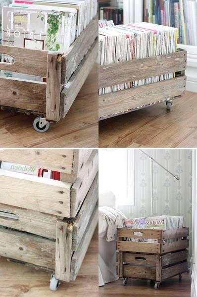 caisse en bois tete de lit
