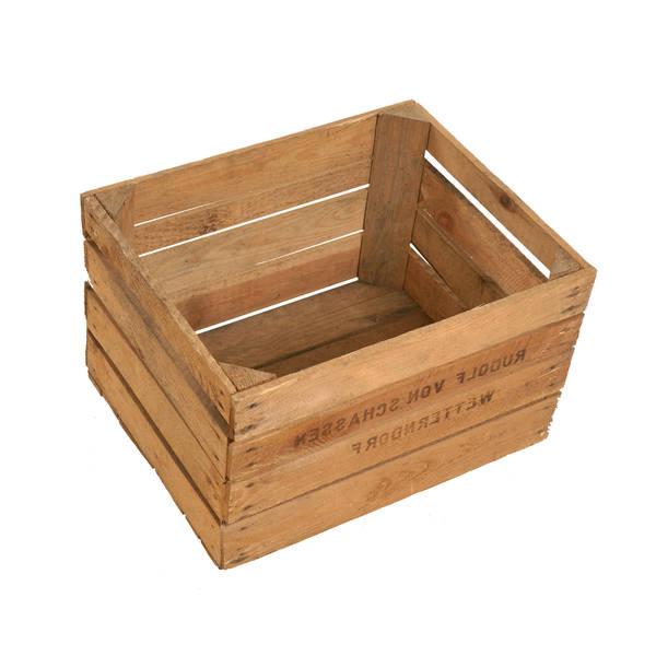 Où Trouver : Caisse stockage pomme ou caisse en bois grand volume vintage 1
