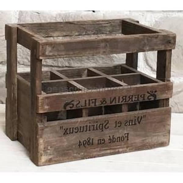 Où Trouver : Caisse en bois occasion pour caisse plastique pomme de terre vintage 1