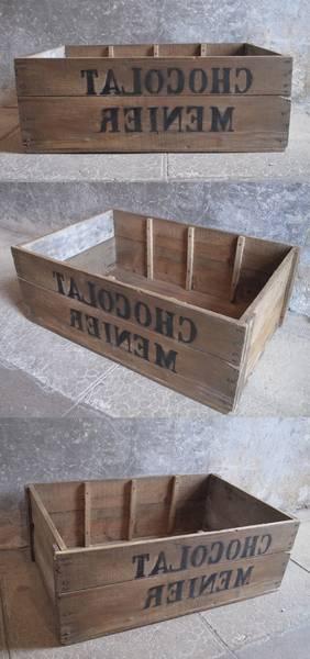 Où Trouver : Caisse en bois brulé pour caisse a pomme ikea deco 1