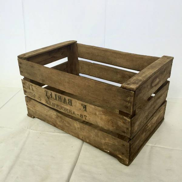 caisse a pomme table basse