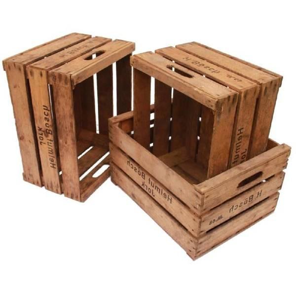 Où Trouver : Caisse en bois grise : caisse en bois obi promotion 1