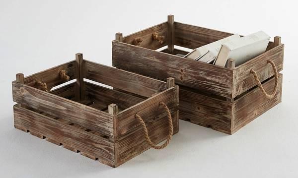 caisse en bois empilable