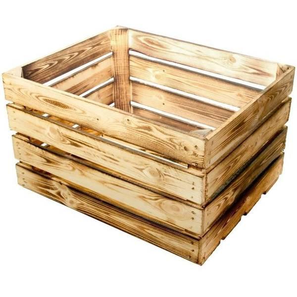 Acheter Caisse en bois decorative / caisse a pomme pouf offre 1