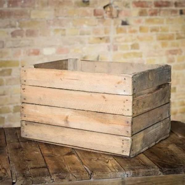 caisse en bois style ancien