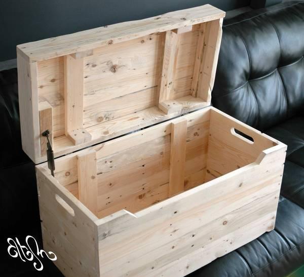 caisse en bois avec couvercle
