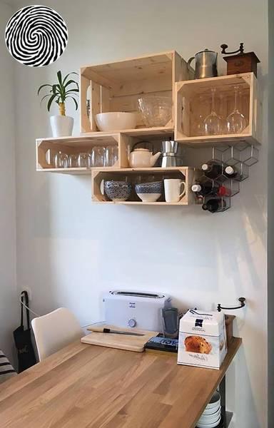 Acheter Caisse en bois pour bouteille / transformer caisse bois en jardiniere vintage 1