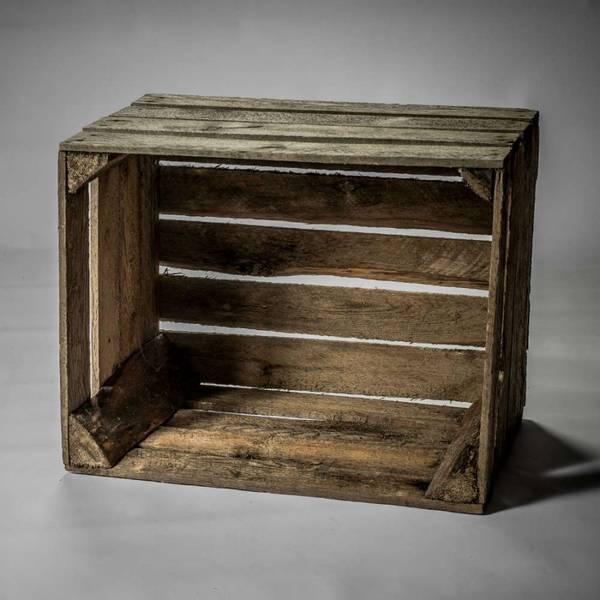 caisse en bois style industriel