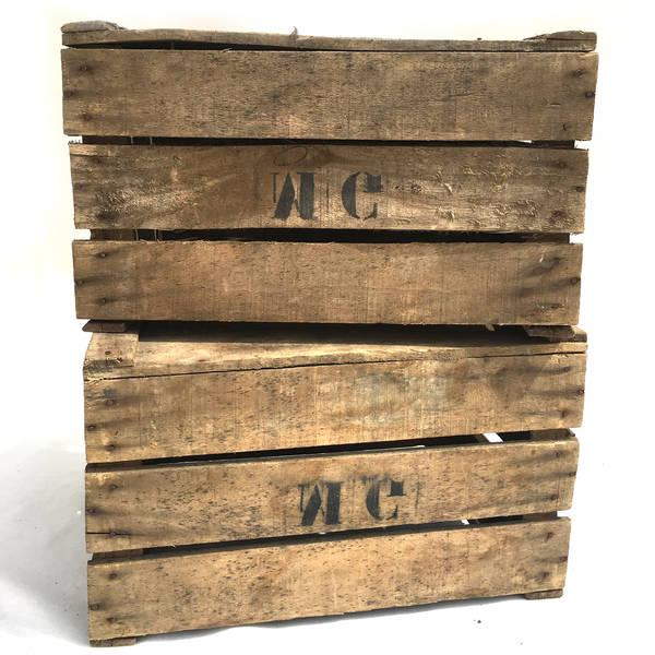 caisse en bois vintage