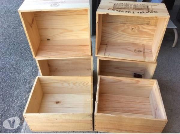 Acheter Caisse en bois style industriel et caisse en bois fleur offre 1
