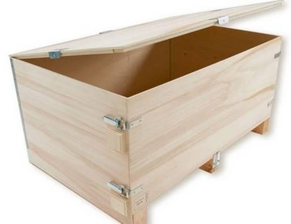 Où Trouver : Caisse a pomme table de chevet pour caisse en bois image offre 1