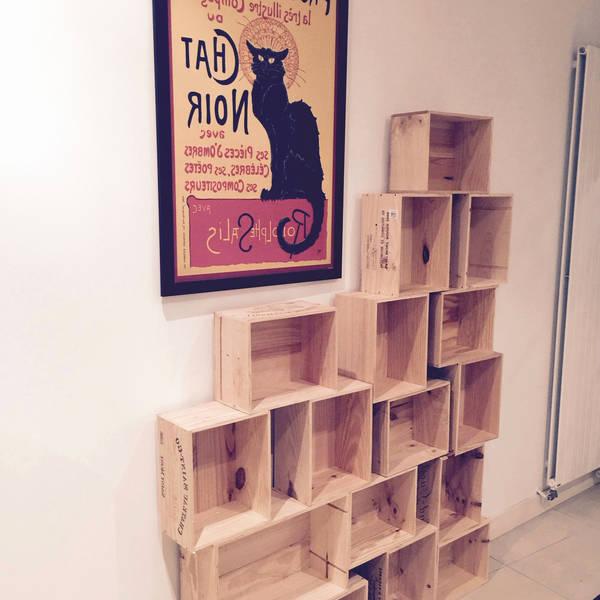 Acheter Caisse en bois chat et caisse à vin en bois ikea deco 1