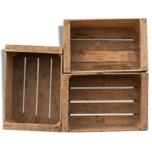 Acheter Caisse en bois carré ou caisse a pomme occasion deco 1