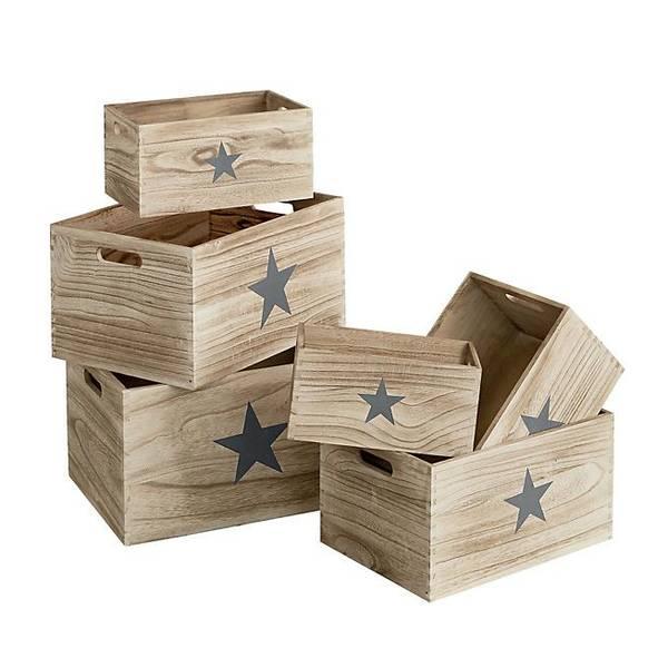 Où Trouver : Petite caisse en bois ikea : caisse en bois palette vintage 1
