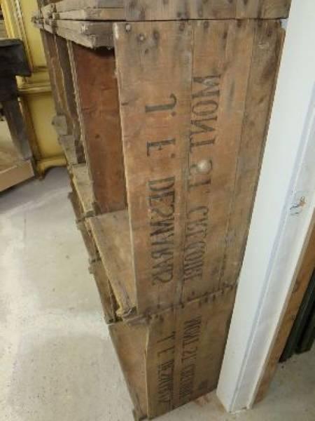 Acheter Caisse en bois grise : caisses de pommes artigues vintage 1