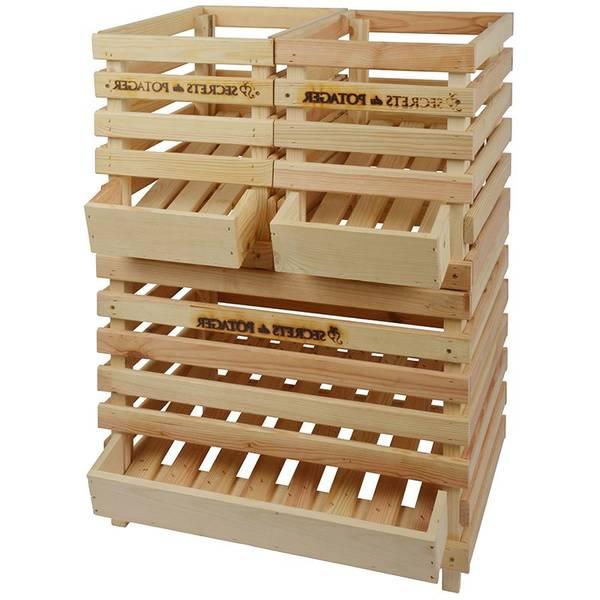 Acheter Caisse en bois home hardware : caisse en bois grand format deco 1