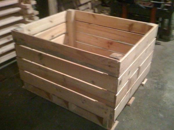 Acheter Meuble tele caisse a pomme : caisse en bois récupération deco 1