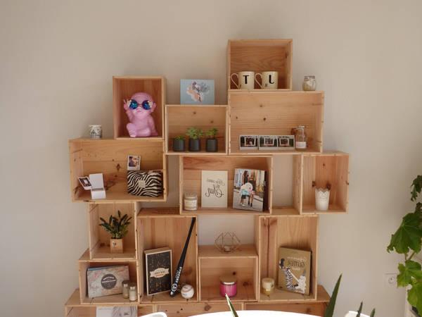 Où Trouver : Table caisse a pomme pour caisse en bois simply a box vintage 1