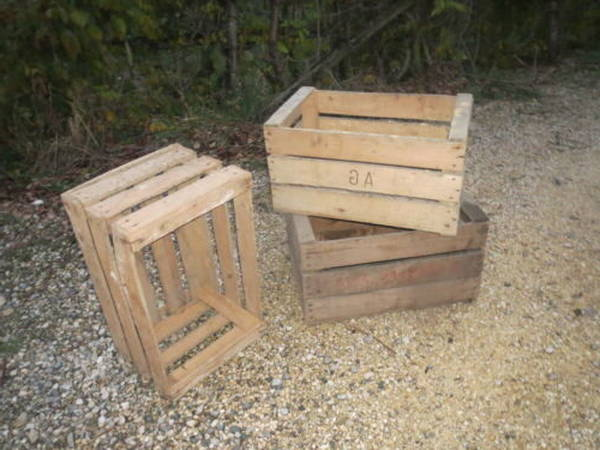 Acheter Caisse en bois ww1 et fixer caisse a pomme au mur deco 1