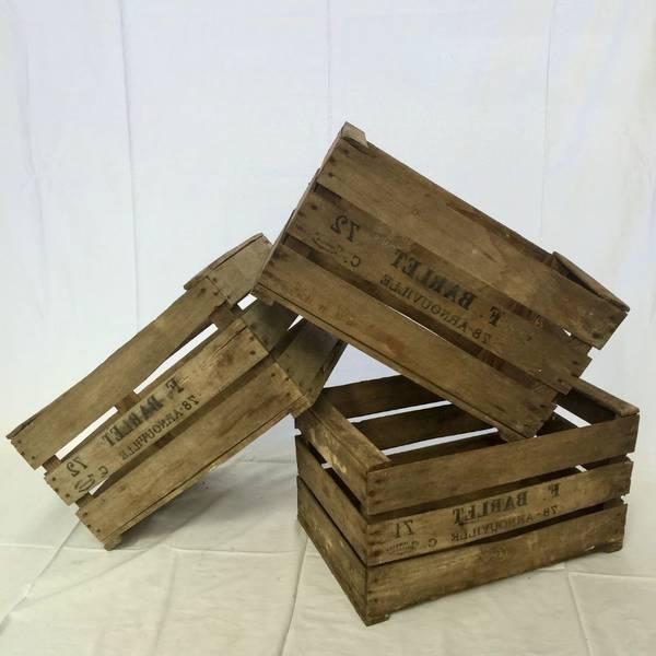 Acheter Vieille caisse a pomme / caisse en bois quebec vintage 1