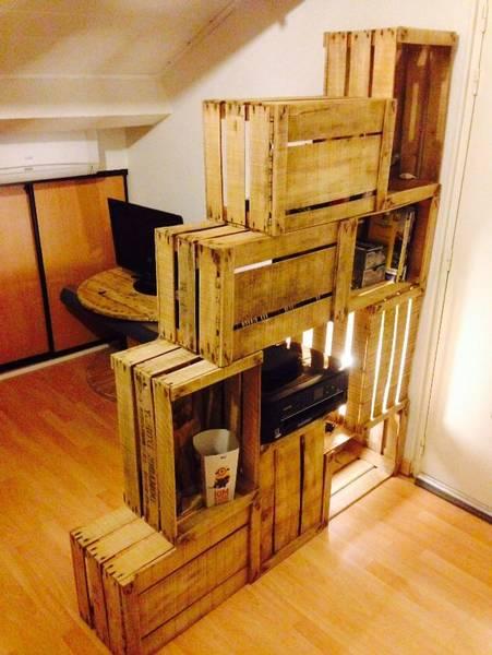 Où Trouver : Caisse en bois transport maritime et caisse en bois vin dimension vintage 6