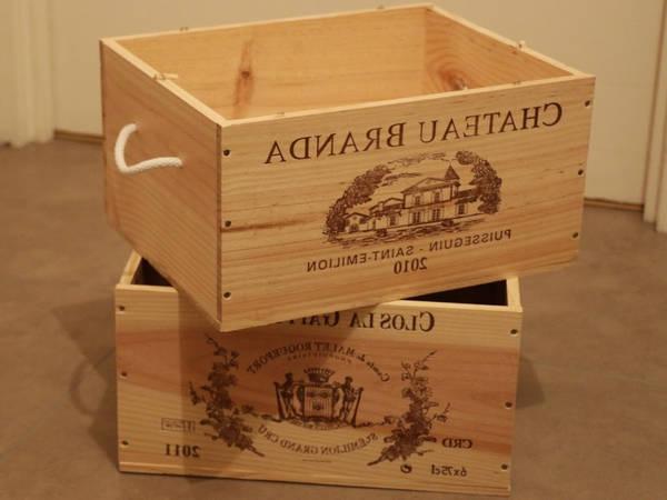 caisse en bois stockage