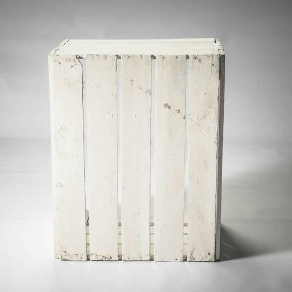 Acheter Caisse en bois decorative ikea : caisse pomme blanc promotion 1
