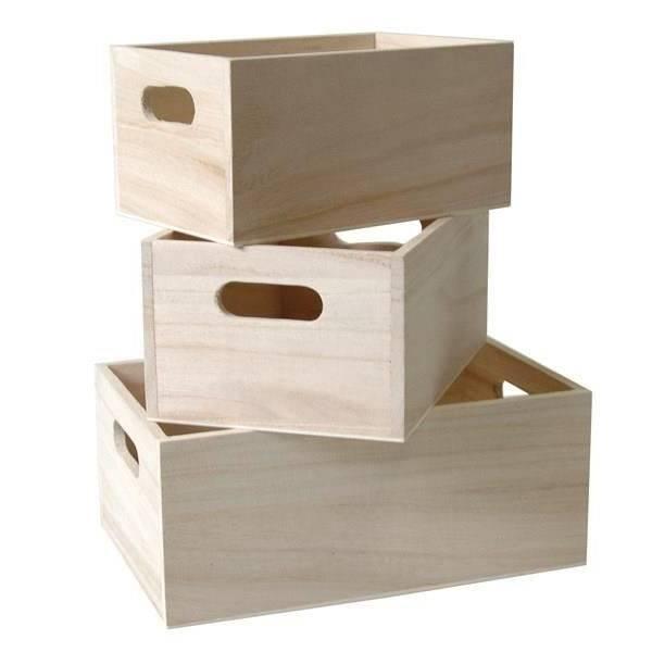caisse en bois avec couvercle ikea