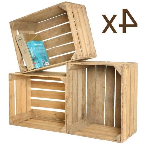 Où Trouver : Caisse en bois maison pour dimension dune caisse a pomme deco 1
