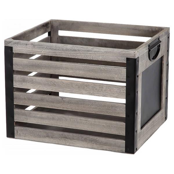Acheter Caisse en bois vin pas cher pour caisse en bois ronde deco 1