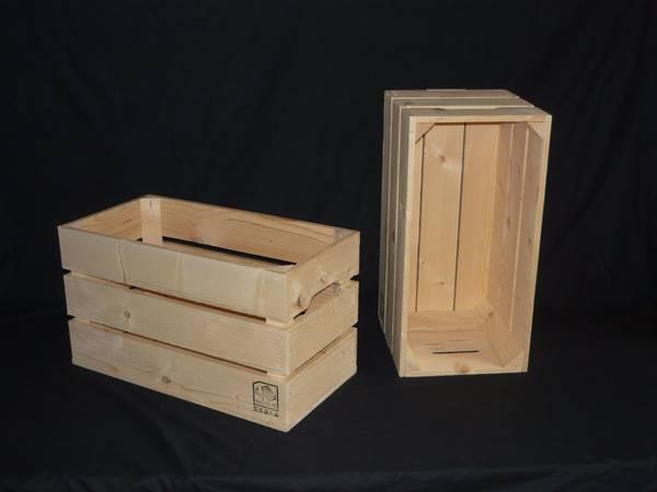 Où Trouver : Caisse en bois tridome : caisse a pommes jardin vintage 1