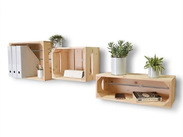 caisse en bois decorative